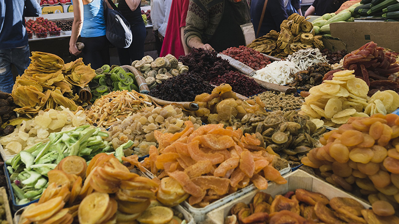 Photo of assorted dried fruit market